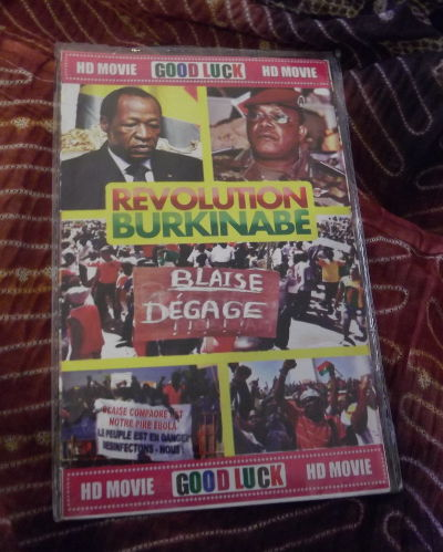 DVD with media and cellphone videos sold on the streets of Ouagadougou, December 2014; Photo: Heike Becker