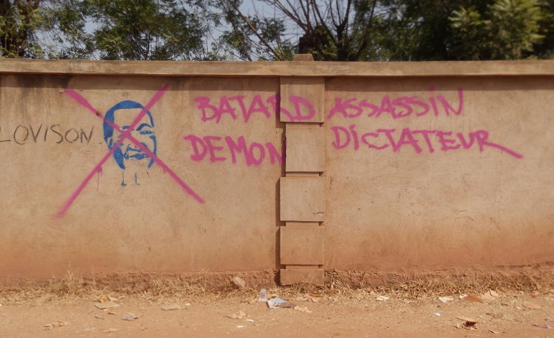 Graffiti, Ouagadougou, December 2014; Photo: Heike Becker