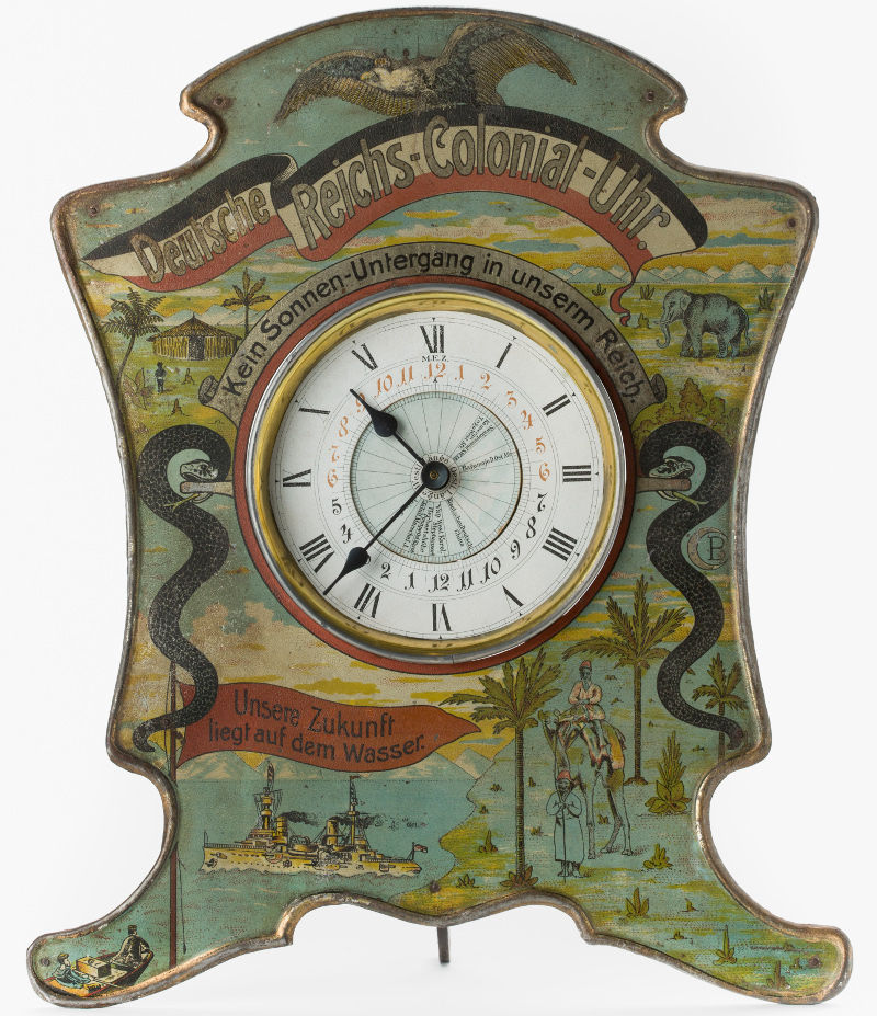German colonial clock. Photo: Deutsches Historische Museum.