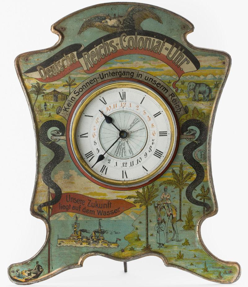 German colonial clock. Photo: Deutsches Historische Museum.