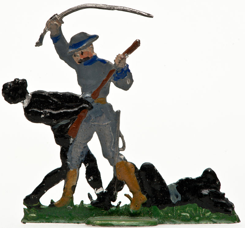 Pewter figure showing a German soldier. Photo: Deutsches Historische Museum.
